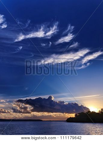 Blue Sky Sunrise Landscape