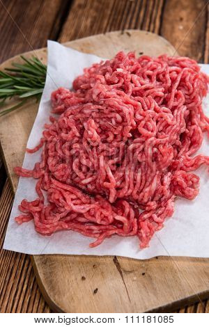 Portion Of Minced Meat