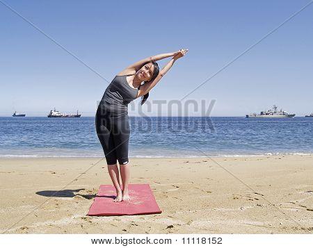 Bikram Yoga Arda Chandrasana Pose