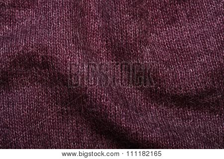 Purple Soft Knitting Wool Moher Texture Background