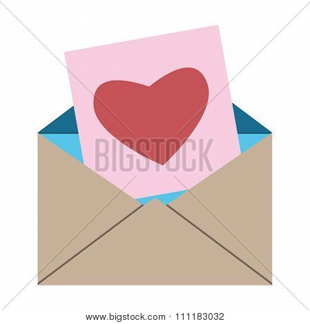 Envelope, Card With Heart