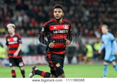 Jonathan Tah During The Uefa Champions League Game Between Bayer 04 Leverkusen Vs Barcelona At Bayar