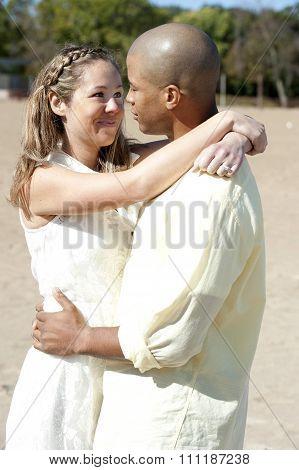 Romantic Interracial Couple