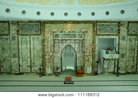 Interior of An-Nur Mosque or UTP Mosque