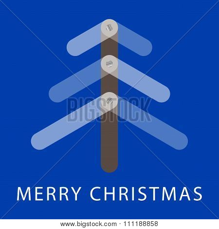 Christmas Greeting Card With Translucent Three