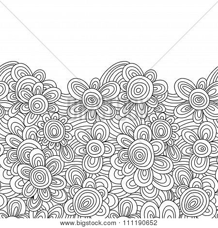 vector floral monochrome pattern. For easy making seamless pattern just drag all group into swatches