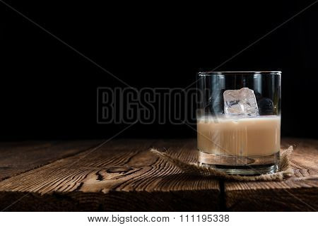 Glass With Cream Liqueur