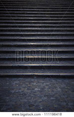 Dark Stone Stairs Background