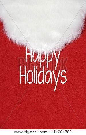 Santa Claus white beard on red