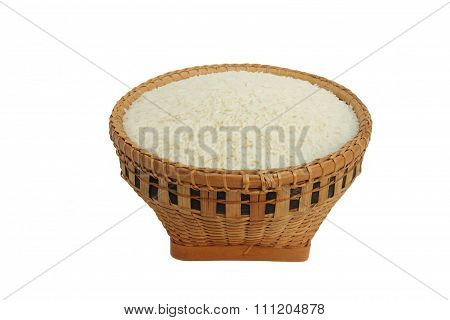 Rice in a basket