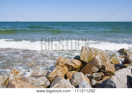 Baltic Seascape With Breakwater