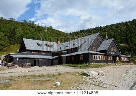 Mountain Hostel Samotnia In Karkonosze Mountains.