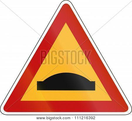 South Korea Road Sign - Speed Bump