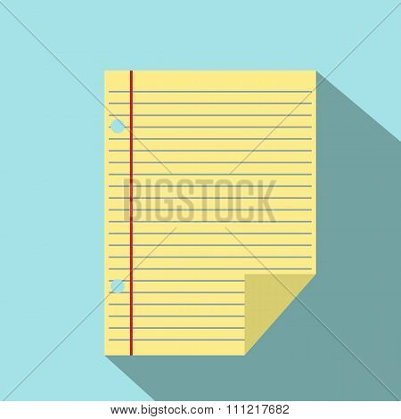 Lined paper of notebook icon
