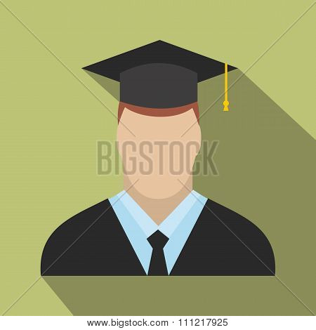 Graduate flat icon