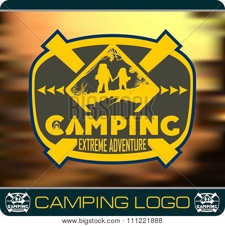 Camping extreme adventure logo