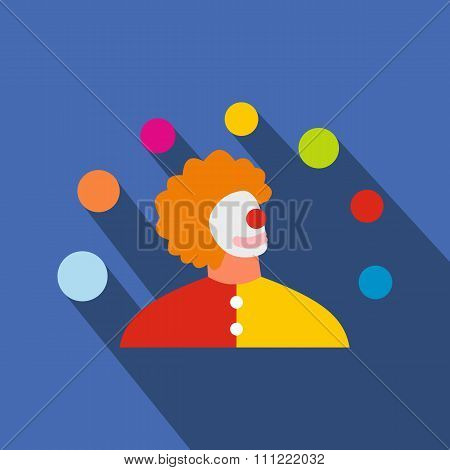 Juggler man flat icon