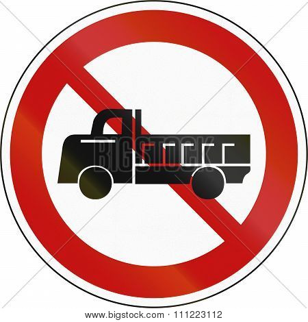 No Lorries Prohibitory Sign In South Korea