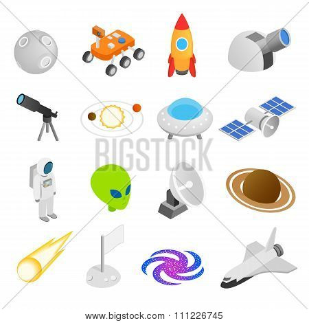 Space isometric 3d icons. Space icons. Space icons isolated. Space icons illustration. Space icons set. Space icons collection. Space set. Space icons isometric. Space icons 3d