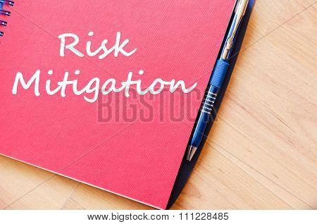 Risk Mitigation Write On Notebook