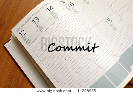 Commit Write On Notebook