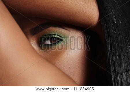 Eye Makeup Closeup