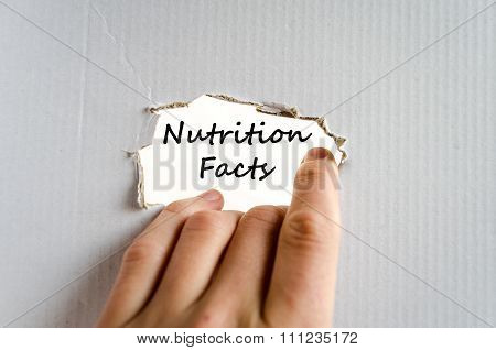 Nutrition Facts Text Concept