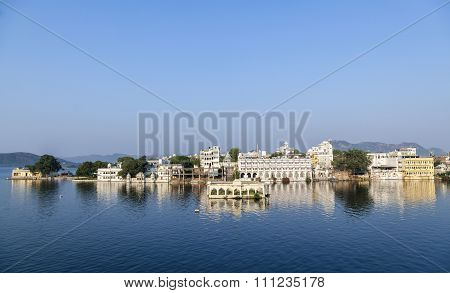 Beautiful Building On The Lake In Udaipur, India