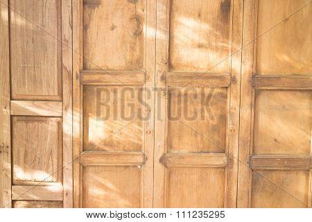 Wooden Wall On The Sun Light