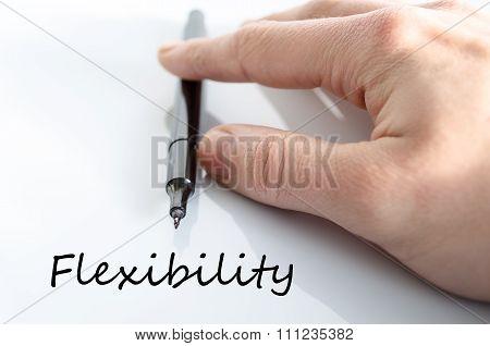 Flexibility Text Concept