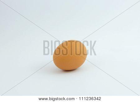 raw eggs on white background