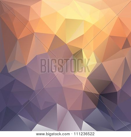 Vector Polygon Background With Irregular Tessellations Pattern - Triangular Geometric Design