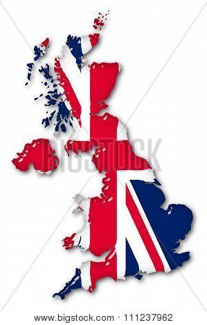 Great Britain Volume 3D Flag