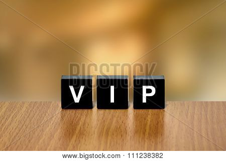 Vip Or Very Important Person On Black Block