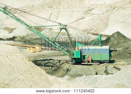 Amber open-cast mining in Yantarny, Russia