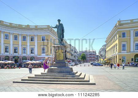 Monument To Duke De Richelieu In Odessa. 1828 Year