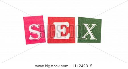 Sex cut out of letters