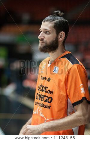 VALENCIA, SPAIN - DECEMBER 12th: Diot during Spanish League between Valencia Basket Club and Montakit Fuenlabrada at Fonteta Stadium on December 12, 2015 in Valencia, Spain