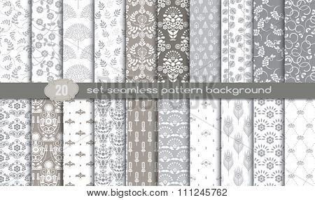 Vector Damask Seamless Pattern Background.pattern Swatches Included For Illustrator User
