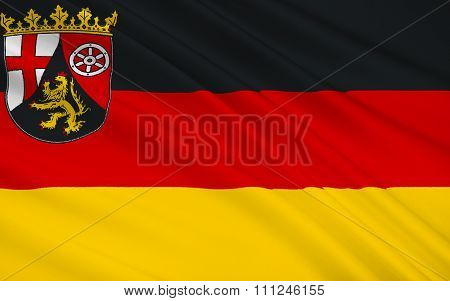 Flag Of Rhineland-palatinate - The Land Of Germany.