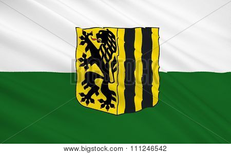 Flag Of Dresden - A City In Germany, The Administrative Center Of Saxony
