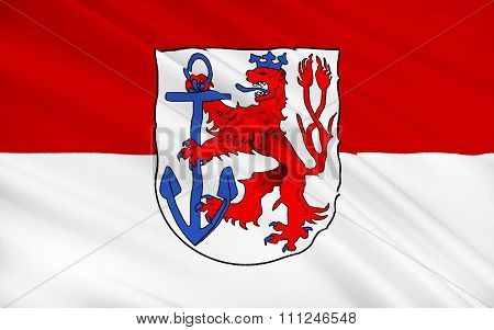 Flag Of Dusseldorf - A City In The West Of Germany, In The Rhine-ruhr Region