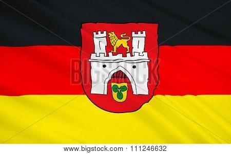 Flag Of Hannover - The Administrative Center Of Lower Saxony In The Federal Republic Of Germany