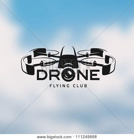 Drone vintage style label
