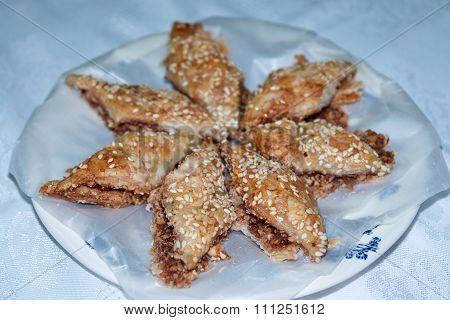 Homemade Baklavaturkish Traditional Delight