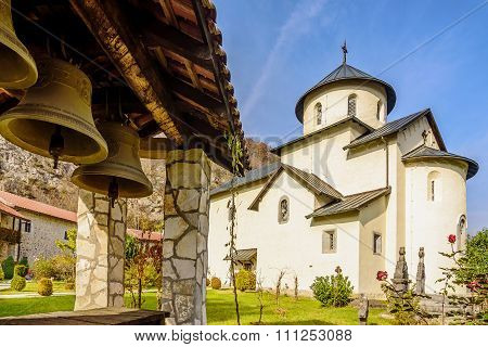 Bells By The Serbian Orthodox Monastery Moraca, Kolasin,montenegro