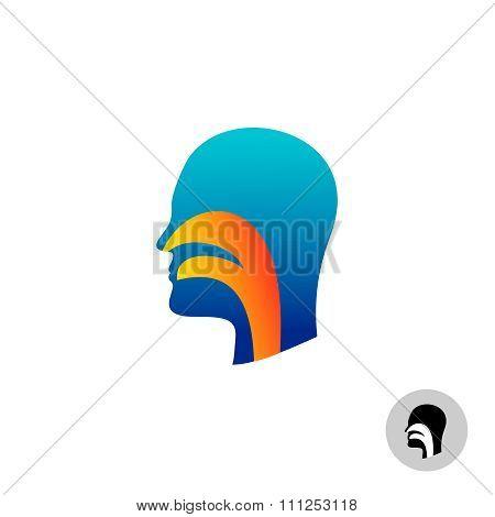 Throat Silhouette