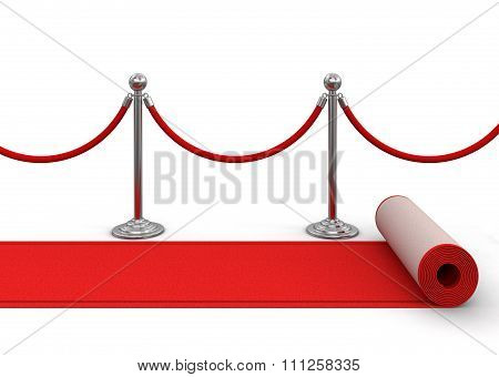 Red Carpet and stanchions.