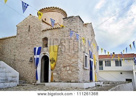 Dimiova monastery in Elaiochori Messinia Greece