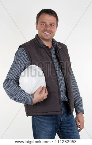 Picture Of A Happy Young Foreman With Hard Hat